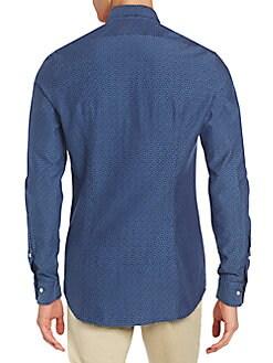Slim-Fit Printed Sportshirt
