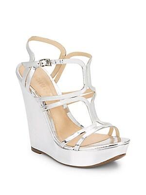 Raee Metallic Wedge Sandals