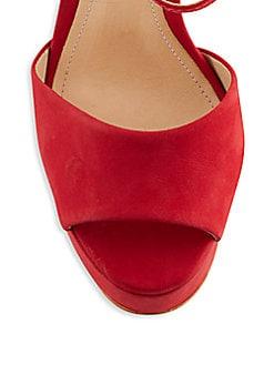 Rebecca Suede Platform Sandals