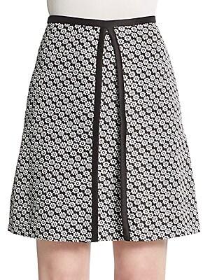 Margeaux Floral Jacquard Skirt
