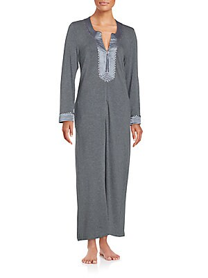 Long Sleeve Heathered Nightgown