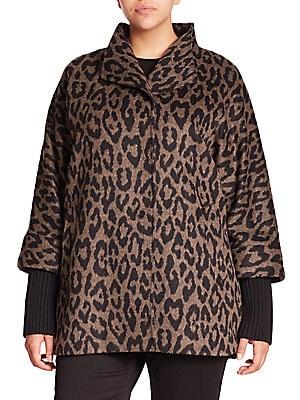 Alpaca & Wool Leopard-Print Coat
