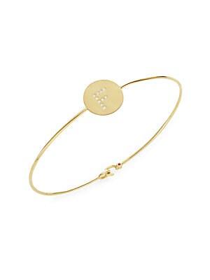 Tiny Treasures Diamond & 18K Yellow Gold F Bracelet