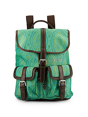 Stellen Paisley-Print Backpack