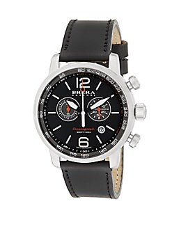 Dinamico Stainless Steel & Leather Watch