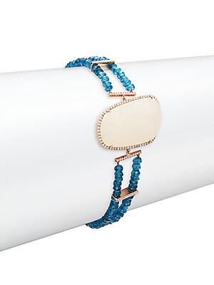 Click here for Diamond & 14K Rose-Gold Bracelet prices