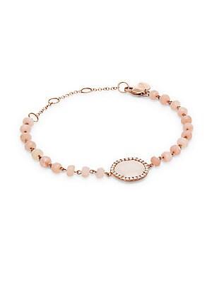 14K Rose Gold Rose Quartz Bracelet
