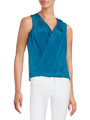Fawcett Crossover Silk Top