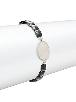 Click here for 14K White Gold Lobster Clasp Bracelet prices