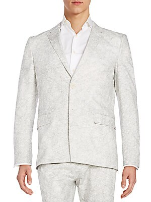 Regular-Fit Crackled-Print Sportcoat