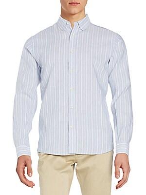 Steven Striped Linen & Cotton Shirt