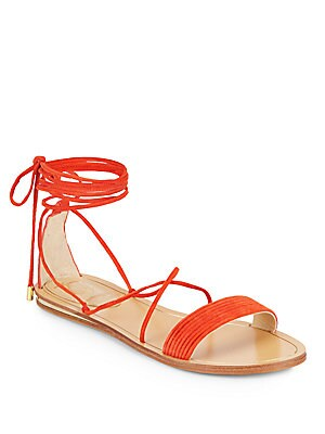 Valtina Suede Lace-Up Sandals