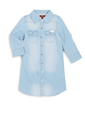 Little Girl's Denim Button-Front Top
