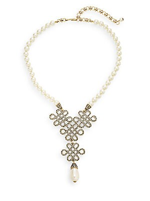 Chinois Swarovski Crystal & Faux Pearl Necklace