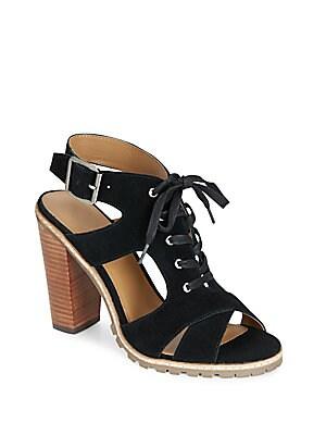 London Suede Lace-Up Sandals