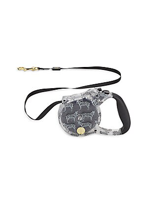 Zebra-Print Retractable Dog Leash