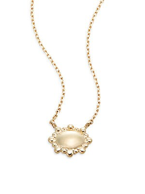 Dew Drop 14K Yellow Gold Pendant Necklace
