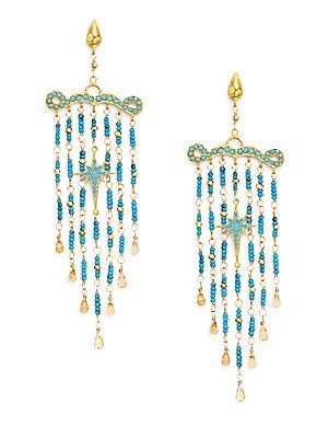 Romantic Multi-Stone Chandelier Earrings