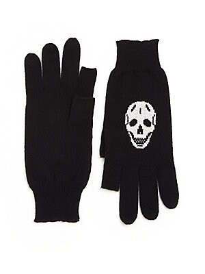 Luther Cashmere Skull-Print Texting Gloves