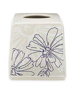 Ceramic Floral Tissue Box
