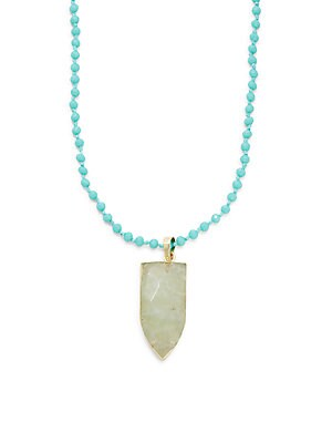 Agate Rhodes Beaded Pendant Necklace
