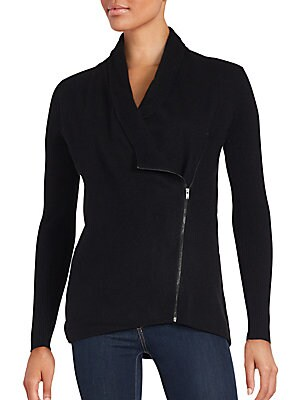 Cashmere Moto Sweater