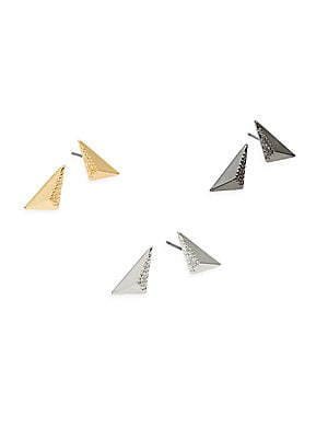 Click here for Pyramid Stud Earring Set prices