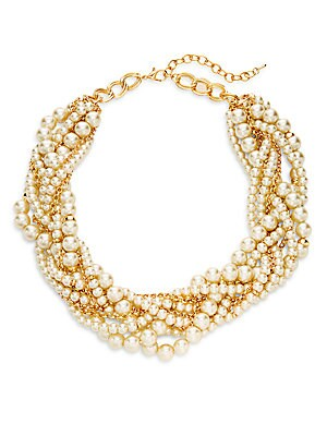 Stella + Ruby Faux Pearl Collar Necklace
