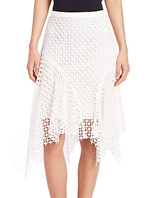 Melly Lace Asymmetrical Skirt