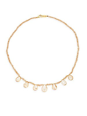 Beaded Crystal Collar Necklace