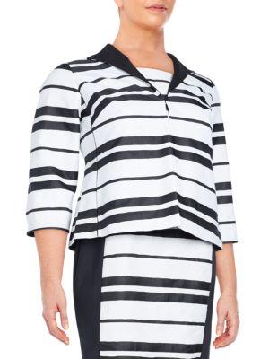 Bellene Striped Jacket Lafayette 148 New York, Plus Size