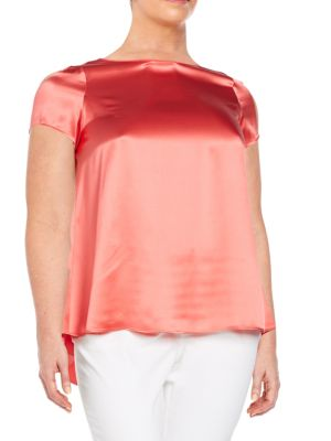 Rosie Silk Blouse Lafayette 148 New York, Plus Size