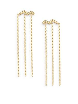 Erte Chain Fringe Earrings