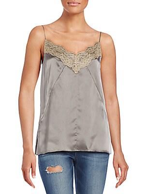 Izabella Lace-Trimmed Silk Camisole