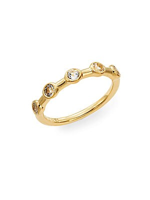 Jean White Topaz Band Ring