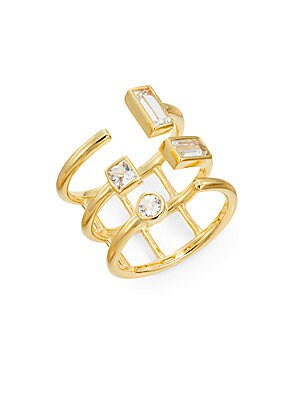 Dia White Sapphire Triple Band Ring