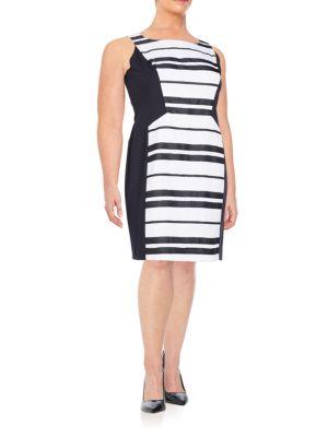Kimberly Striped Dress Lafayette 148 New York, Plus Size
