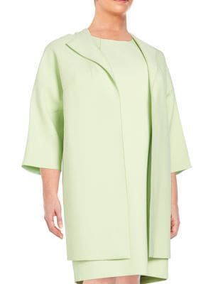 Mary Open-Front Jacket Lafayette 148 New York, Plus Size