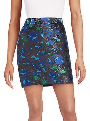 Feather Jacquard Mini Skirt