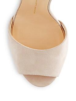 Suede Peep-Toe Sandals