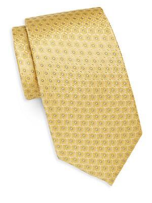 Medallion Link Silk Tie