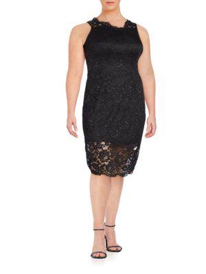 Sleeveless Lace Dress Marina, Plus Size