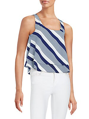 Calista Striped Two-Layer Tank
