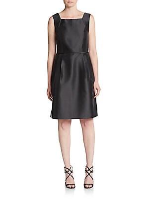 Squareneck A-Line Shift Dress