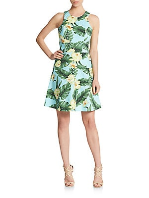 Rosie Tropical-Print Dress