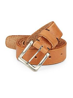 Skinny Skiver Leather Belt