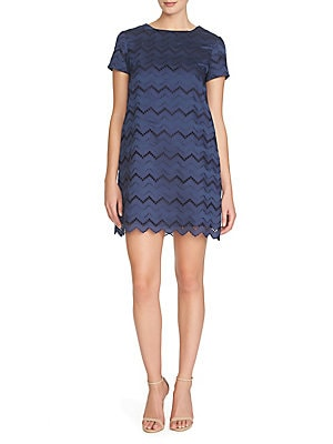 Kayte Embroidered Chevron Dress