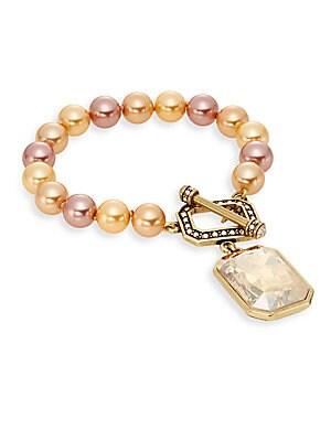 Basic With A Twist Faux Pearl & Swarovski Crystal Bracelet
