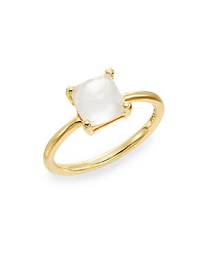 Rock Candy Mother-Of-Pearl & 18K Yellow Gold Doublet Ring
