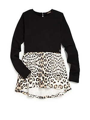 Girl's Leopard-Print Top